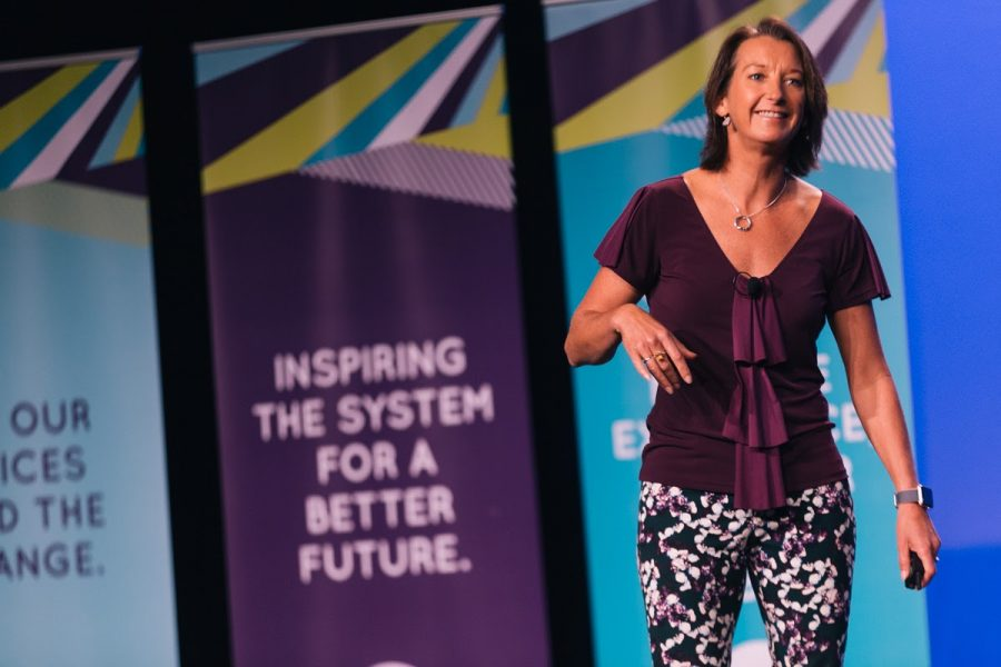 Layne Beachley speaking at our 2017 conference